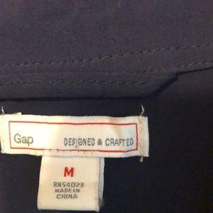 GAP Dresses - Gap navy medium shirt dress with belted waist